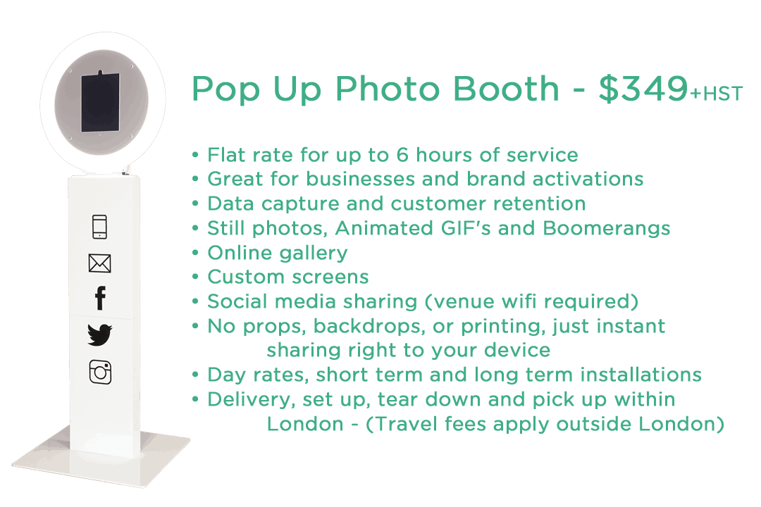 Pop Up for PicMeUp website